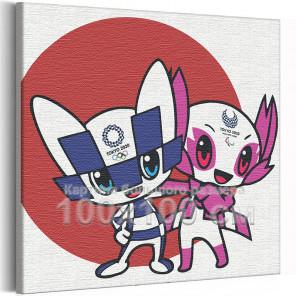 Олимпиада Токио 2020 100х100 см Раскраска картина по номерам на холсте AAAA-RS311-100x100