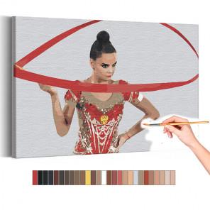 Дина Аверина / Художественная гимнастика / Олимпиада Токио Раскраска картина по номерам на холсте AAAA-RS301