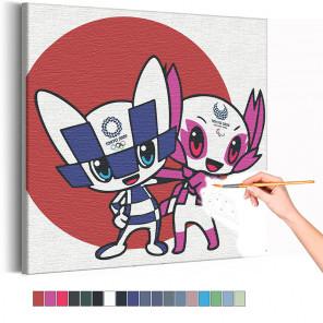 Олимпиада Токио 2020 Раскраска картина по номерам на холсте AAAA-RS311