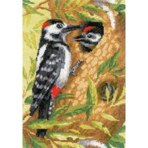 Дятел Набор для вышивания Риолис 1851