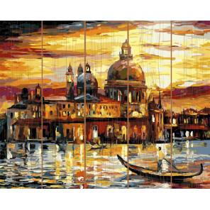 Золотое небо Венеции Картина по номерам на дереве KD0629