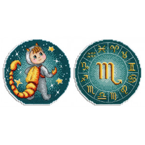 Знаки Зодиака. Скорпион Набор для вышивания на пластиковой канве МП Студия Р-701