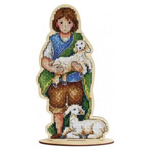 Пастушок Набор для вышивания на деревянной основе МП Студия О-028