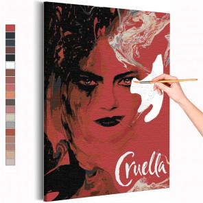 Круэлла / Cruella Раскраска картина по номерам на холсте AAAA-RS300