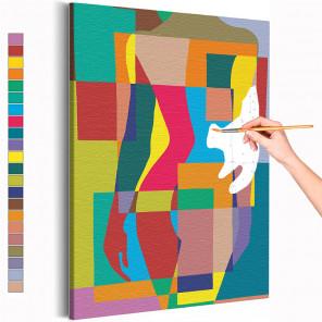 Девушка - радужный силуэт Раскраска картина по номерам на холсте AAAA-RS305