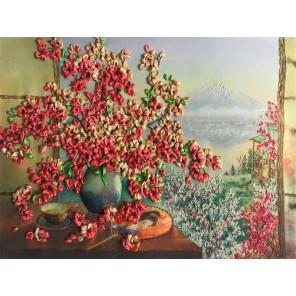 Сакура Набор для вышивки лентами Многоцветница МЛ(Н)-3021
