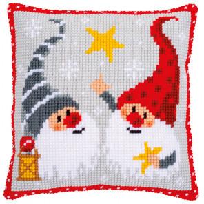 Рождественские гномы Набор для вышивания подушки Vervaco PN-0172634