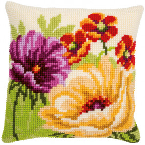 Летние цветы Набор для вышивания подушки Vervaco PN-0170507