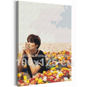 Мин Юнги (Шуга) / Корейская K-POP группа BTS 100х125 см Раскраска картина по номерам на холсте AAAA-RS230-100x125