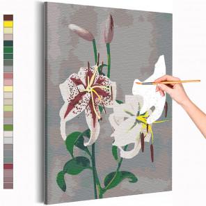 Лилии / Японские цвета Кудзумасы Огавы Раскраска картина по номерам на холсте AAAA-RS229