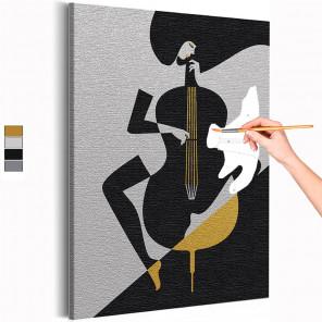 Геометрическая музыка Раскраска картина по номерам на холсте с металлической краской AAAA-RS239
