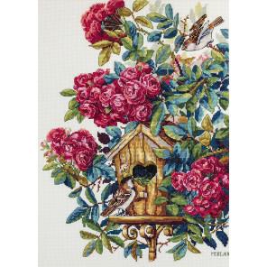 Розовый куст Набор для вышивания Merejka K-150