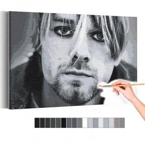 Курт Кобейн / Нирвана Раскраска картина по номерам на холсте AAAA-RS338