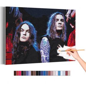Нико Вильхельм и Йоэль Хокка / Blind Channel Раскраска картина по номерам на холсте с неоновой краской AAAA-RS358