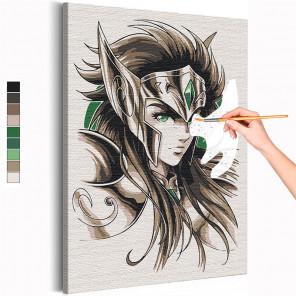 Водолей Камю / Рыцари Зодиака Аниме Раскраска картина по номерам на холсте AAAA-ANI024