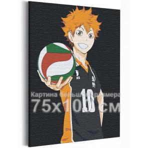 Хината Волейбол Аниме 75х100 см Раскраска картина по номерам на холсте AAAA-ANI021-75x100