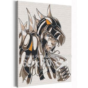 Зигфрид / Рыцари Зодиака Аниме 60х80 см Раскраска картина по номерам на холсте с неоновой краской AAAA-ANI022-60x80