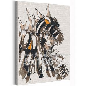 Зигфрид / Рыцари Зодиака Аниме 75х100 см Раскраска картина по номерам на холсте с неоновой краской AAAA-ANI022-75x100