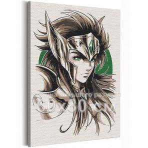 Водолей Камю / Рыцари Зодиака Аниме 60х80 см Раскраска картина по номерам на холсте AAAA-ANI024-60x80