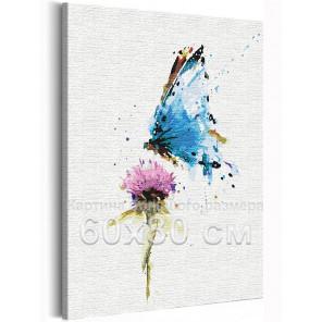 Бабочка и цветок / Полет 60х80 см Раскраска картина по номерам на холсте с неоновой краской AAAA-RS154-60x80