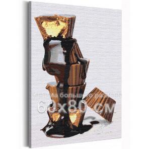 Шоколадные конфеты / Сладости / Еда 60х80 см Раскраска картина по номерам на холсте AAAA-RS158-60x80