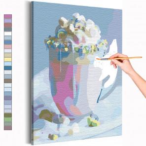Воздушный десерт / Еда / Сладости Раскраска картина по номерам на холсте AAAA-RS149