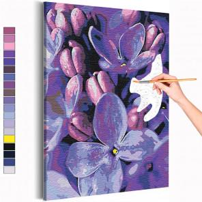 Сирень / Цветы Раскраска картина по номерам на холсте с неоновой краской AAAA-RS155
