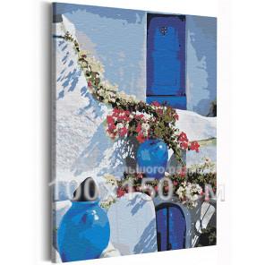 Солнечный берег Греции 100х150 см Раскраска картина по номерам на холсте AAAA-RS201-100x150