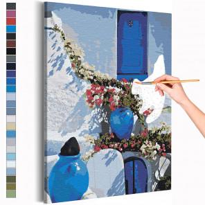 Солнечный берег Греции Раскраска картина по номерам на холсте AAAA-RS201