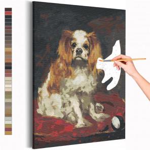 Спаниель короля Карла Эдуард Мане / Собаки / Известные картины Раскраска картина по номерам на холсте AAAA-RS271