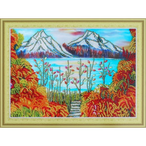 Горы в золоте Алмазная картина фигурными стразами Color Kit FM004