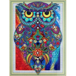 Рубиновая сова Алмазная картина фигурными стразами Color Kit FM009