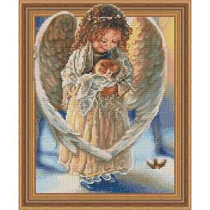 Ангел с котенком Алмазная вышивка мозаика TSGJ1307