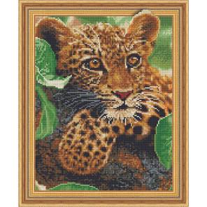 Взгляд леопарда Алмазная вышивка мозаика TSGJ1117