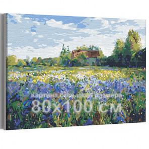 Домик в деревне / Природа 80х100 см Раскраска картина по номерам на холсте AAAA-RS172-80x100