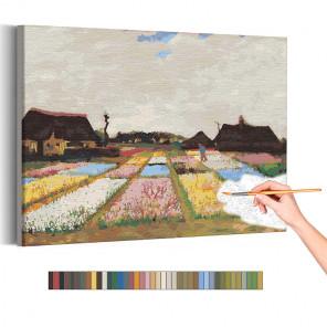 Пример картины и схема Цветники в Голландии Винсент Ван Гог / Известные картины Раскраска картина по номерам на холсте AAAA-RS2