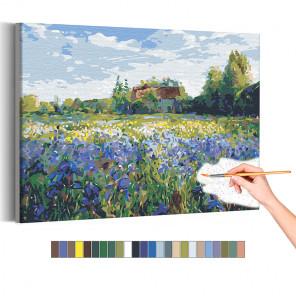 Домик в деревне / Природа Раскраска картина по номерам на холсте AAAA-RS172