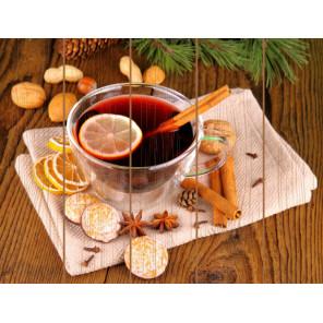 Зимний чай с корицей Картина по номерам на дереве Molly KD0738