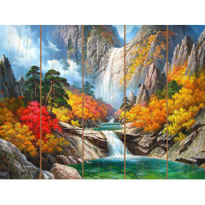 Прохлада воды Картина по номерам на дереве Molly KD0739