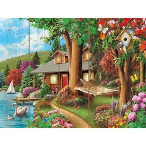 Сказочный домик Картина по номерам на дереве Molly KD0744