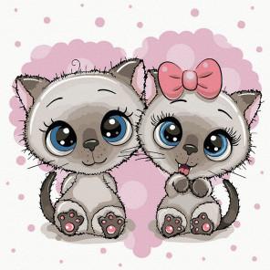 Милые котята Картина по номерам Molly KH1072