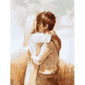 Пример готовой работы Влюбленные Картина по номерам Molly KK0689
