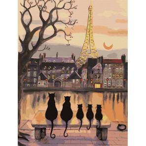 Парижские коты Картина по номерам Molly KK0694