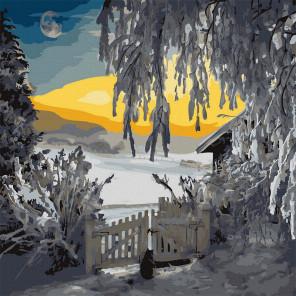 Морозный пейзаж Картина по номерам Molly KH1081