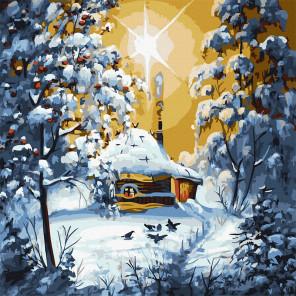 Зимняя избушка Картина по номерам Molly KH1088