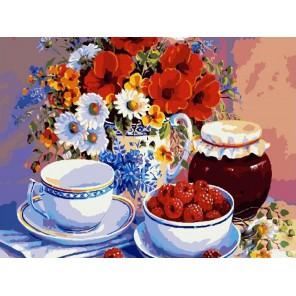 Малиновое варенье ( художник Trisha Hardwick ) Раскраска (картина) по номерам акриловыми красками на холсте