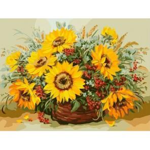 Солнечный букет (художник Рыбаков В.) Раскраска (картина) по номерам акриловыми красками на холсте