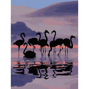 Фламинго на закате Картина по номерам Molly KK0698