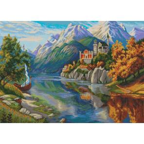 Замок в горах Алмазная вышивка мозаика Алмазное хобби AH5518