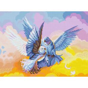 Голуби Алмазная вышивка мозаика Алмазное хобби AH5519